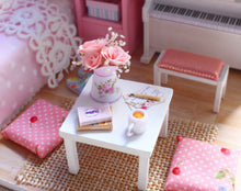 DIY Miniature Pink Wisdom House Bedroom Dollhouse