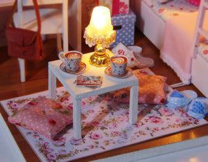 DIY Miniature Pink Bedroom Dollhouse