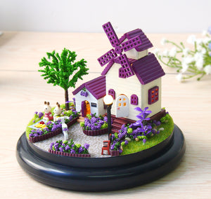 DIY Miniature Purple Mill Music Box