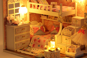 DIY Miniature Angel Dream Bedroom Dollhouse