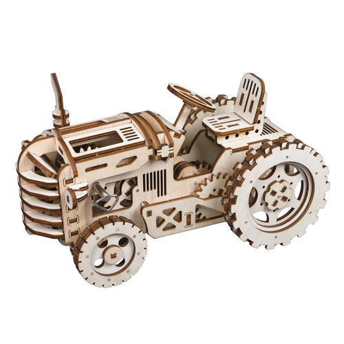 Wooden DIY Mechanical Gear Tractor