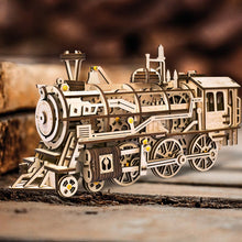 Wooden DIY Mechanical Gear Locomotive