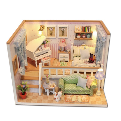 Miniature DIY Micky's Bedroom Dollhouse