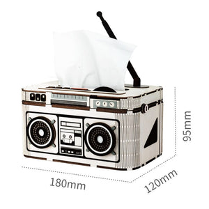DIY Rock Radio Tissue Holder