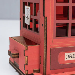 DIY Telephone Booth Penholder