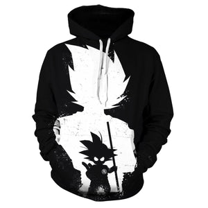 Dragon Ball Print Hoodie - Kid Son Gokū