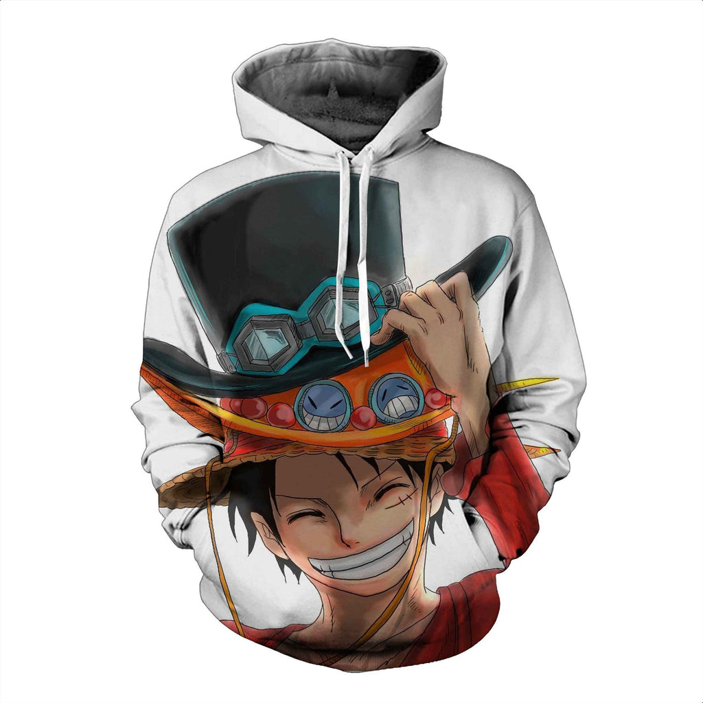 One Piece Monkey·D·Luffy Print Pullover
