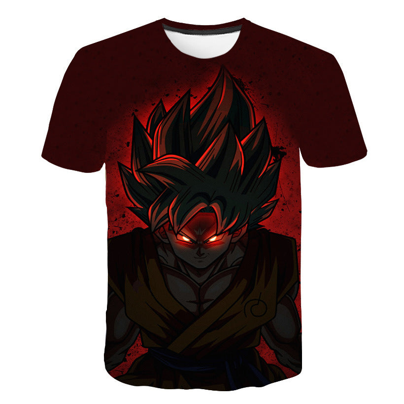 Dragon Ball 3D Printed Short Sleeve T-shirt