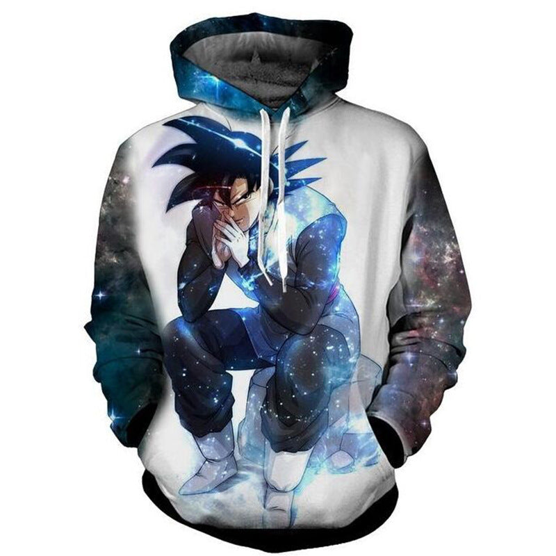 Dragon Ball Son Goku Print Hoodies