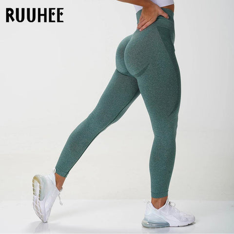 RUUHEE Seamless Legging Yoga Pants Sports Clothing Solid High Waist Full Length Workout Leggings for Fittness Yoga Leggings - Chittili