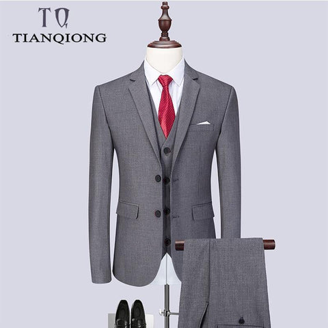 2019 Fashion Men's Latest Coat Pant Designs Casual Business Suit 3 Pieces Set /Men's Suits Blazers Trousers Pants Vest Waistcoat - Chittili