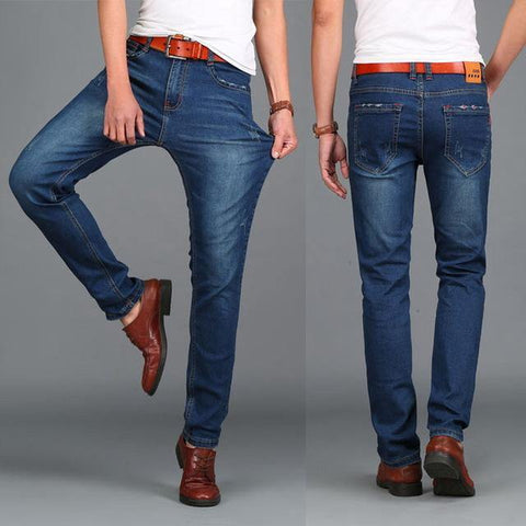 Fashion Designer jeans for men jeans famous brand size 44 HIGHT QUALITY calca jeans masculina tamanho 46 big size 2014 winter freeshipping - Chittili