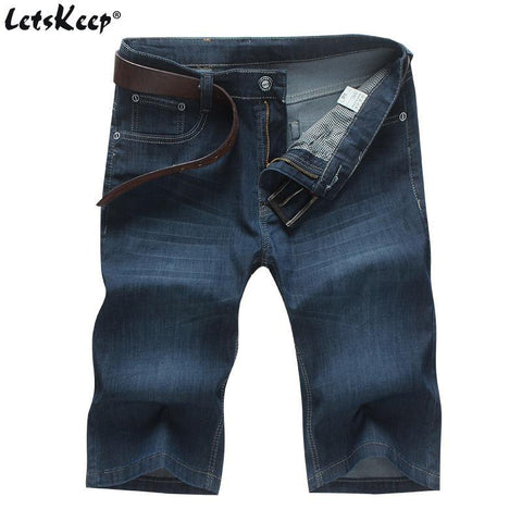 LetsKeep baggy jeans shorts men summer casual stretch short jeans mens loose demin shorts Size 44 46 48 50 Plus size MA404 freeshipping - Chittili