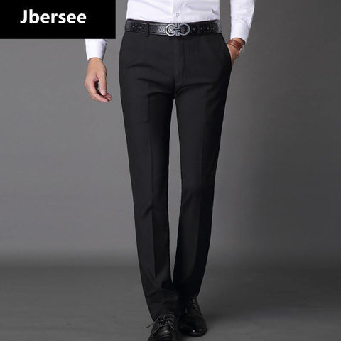 Jbersee Mens Suit Pants Fashion Dress Pants Formal Business Male Casual Long Trousers Slim Fit Male Wedding Dress Mens Suit - Chittili