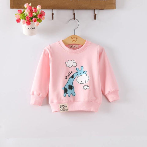 Baby Toddler Kids Girls  Spring Autumn T-shirts Audel Cotton  Long Sleeve Winter Bottoming Shirts 65-90cm Kids G129 - Chittili