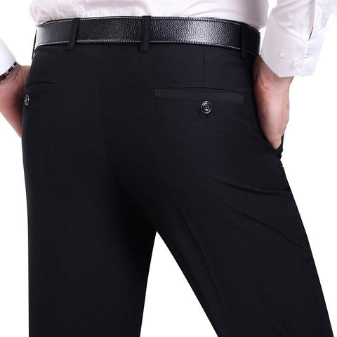 Suit Pants Men Fashion Dress Pants Social Mens Dress Pants Black Formal Suit Pants Business Male Wedding Dress Casual Men Trouse - Chittili