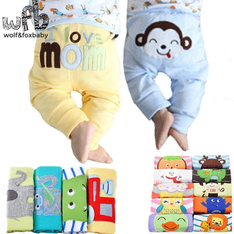 Retail 5pcs/pack 0-2years PP pants trousers Baby Infant cartoonfor boys girls Clothing freeshipping - Chittili