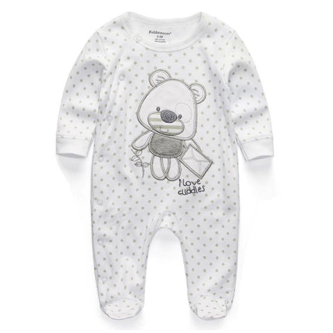 New Newborn jumpsuits Baby Boy Girl Romper Clothes Long Sleeve Infant Product - Chittili