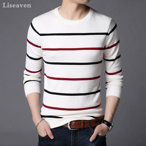Liseaven Pullover Men Sweater Men Long Sleeve Shirt Mens Sweaters O Neck Pull Homme Male Knitwear - Chittili