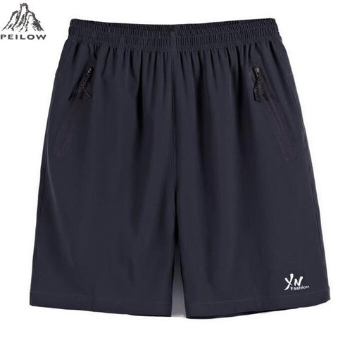 PEILOW men elastic waist shorts big size men summer light casual beach boardshorts gasp casual shorts men 6xl 7xl 8xl 9xl 10xl freeshipping - Chittili
