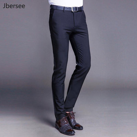 Men Dress Pants Formal Pants Slim Fit Suit Pants Business Casual Wedding Men Black Orange Mens Trousers Linen Summer Suit Pants - Chittili