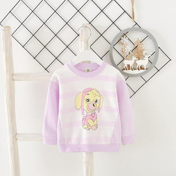 Baby Toddler Kids Girls  Cotton Autumn Spring T shirts Long Sleeve  Winter Bottoming Tops Children Clothes - Chittili