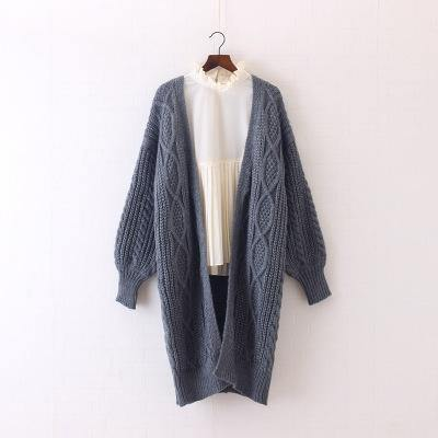 2018 OLGITUM New Women Long Cardigans Autumn Winter Open Stitch Knitting Sweater Cardigans V neck Oversize Cardigan Coat SW707 - Chittili
