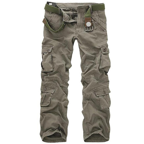 Men Tactical Military Pants Male Casual Multi-pockets Overalls Loose Style Trousers Mens Fashion Cargo Outwear Camouflage Pants - Chittili