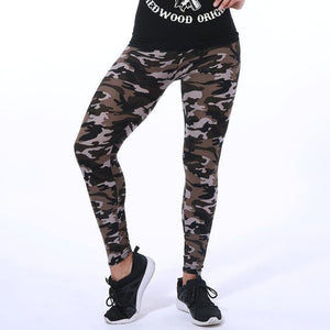 HU&GH New 2018 Camouflage Printed Women Leggings Fashion Design Female Casual Polyester Soft Elasticity Pant Sexy Army Legging - Chittili