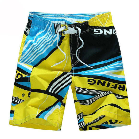 Hot Summer Designer Printing Board  Shorts Men Casual Quick Dry Beach Shorts