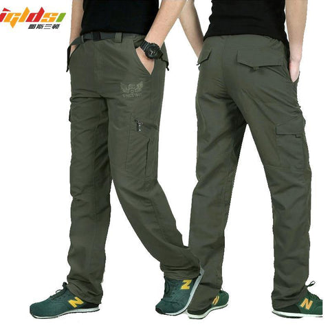 Men's Military Style Cargo Pants Men Summer Waterproof Breathable Male Trousers Joggers Army Pockets Casual Pants Plus Size 4XL - Chittili