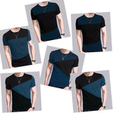 Slim Fit Crew Neck T-shirt Men Short Sleeve Shirt Casual tshirt Tee Tops Short - Chittili
