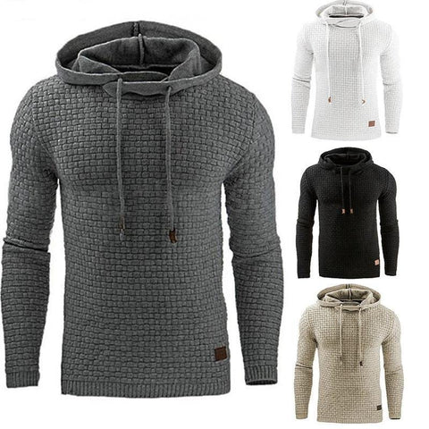 Long Sleeve Solid Color Hooded Sweatshirt for Casual & Sportswear - Chittili