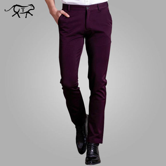 New Arrival Men's slim fit British Style Casual Pants