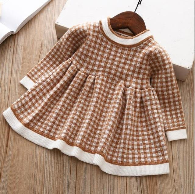e0a0fd2e901fd ... children winter Dress for Girls baby underwear dress kids autumn  knitted Clothes thick Dresses teen high ...