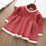 children winter Dress for Girls baby underwear dress kids autumn knitted Clothes thick Dresses teen high quality Christmas Cloth - Chittili