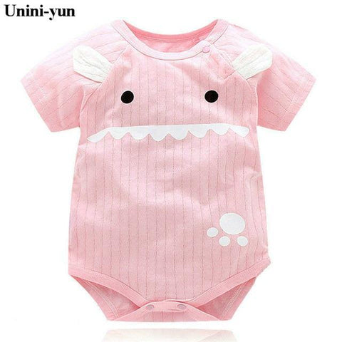 New Summer Baby Boys Romper Animal style Short Sleeve infant rompers Jumpsuit cotton Baby Rompers Newborn Clothes Kids clothing - Chittili