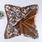 90*90cm Women Lady Square Scarf Vintage Printed Head Wrap Kerchief Neck Satin Shawl Bandana Foulard Femme Scarves #LSN