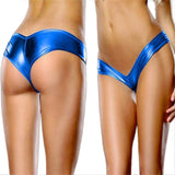 Solid Women G-String Sexy Underwear Women Bare Imitation Leather Underpants Lingerie Lady Thongs calcinha