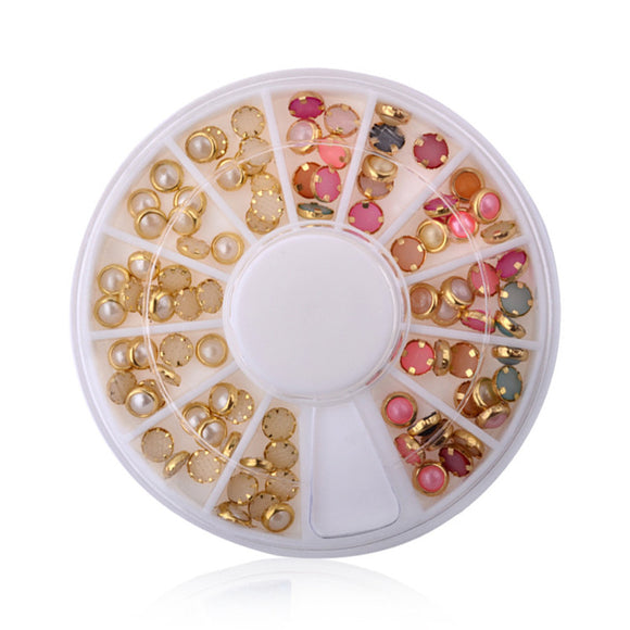Nail Art Decorations 3d Nail Art Pearl Rhinestones Wheel Nail Stylish Tool DIY Manicure Nail Jewelry Decorations