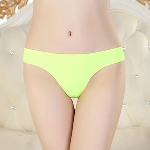 Hot Women Invisible Underwear Thong Cotton Spandex Gas Seamless Crotch GN