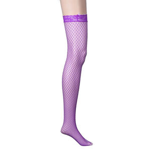 Hot Sell Women Lace Top Sexy Lingerie Black Fishnet Thigh High Stocking Socks
