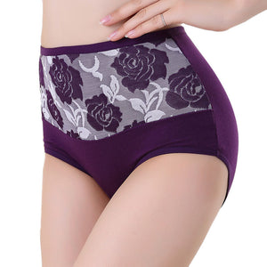 High Waist Cotton Women Briefs Sexy Healthy Panties Underwear Plus Size PP/L