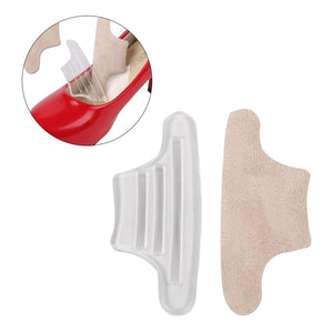 Pair of Self Adhesive Abrasion-resistant Blister-resistant Back Heel Pads Grips Liners Soft Silicone Gel Anti-skid Foot Care Back Heel Cushion for High Heels Blisters