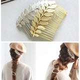Fashionable Leaf Hairpin Comb Chic Headdress Hair Accessories Vintage Leaves Hair Clip Comb