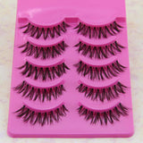 5 Pairs Fashion Natural Handmade Soft Long False Eyelashes Makeup Z-1