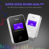 1.1Inch Screen Sports MP3 Player Speaker Digital Compact and Portable Mini MP3 Max support 16GB Micro SD Card with Music And Small Body