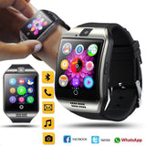 Q18 Smart Wrist Watch Bluetooth Smartwatch Phone with Camera TF/SIM Card Slot GSM Anti-lost Watch (Black)