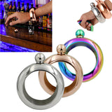 3.5oz Stainless Steel Jug Bracelet Alcohol Hip Flasks Funnel Bangle Bracelet
