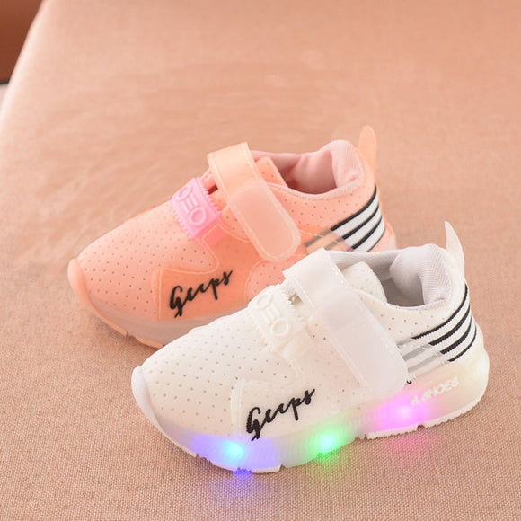 Autumn Toddler Sport Running Baby Shoes Boys Girls LED Luminous Shoes Sneakers
